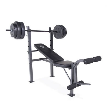 Cap barbell standard bench with 100 lb weight set Cap strength weight bench