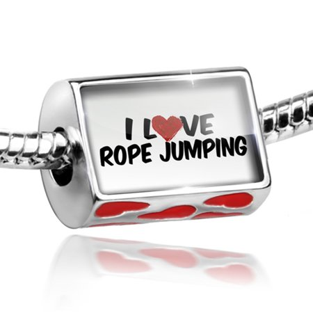 Bead I Love Rope Jumping Charm Fits All European Bracelets