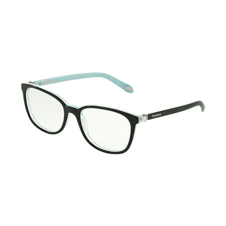 Tiffany Optical 0TF2109HB Full Rim Square Womens Eyeglasses - Size 51 (Black/Striped Blue / Clear (German Eyeglass Brands)