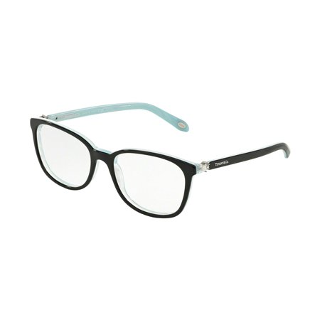 Valentino Optical Frames - Tiffany Optical 0TF2109HB Full Rim Square Womens Eyeglasses - Size 51 (Black/Striped Blue / Clear Lens)
