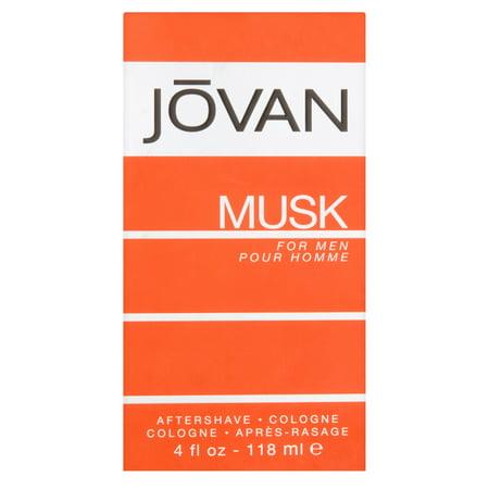 Jovan Musk After Shave Cologne Spray for Men, 4 fl (Glass Spray After Shave)