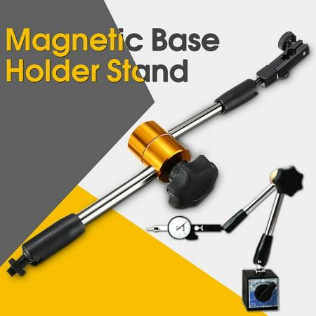 Dial Indicator Magnetic Base (Universal Flexible Magnetic Metal indicator Base Holder Stand Dial Test Indicator Tool)