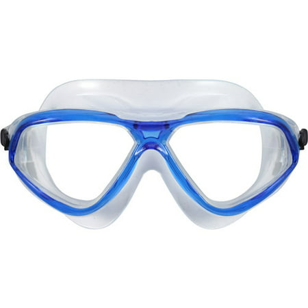 7001bc47ce Us Diver s Stilo Junior Swim Mask in Blue with Clear Lenses - Walmart.com