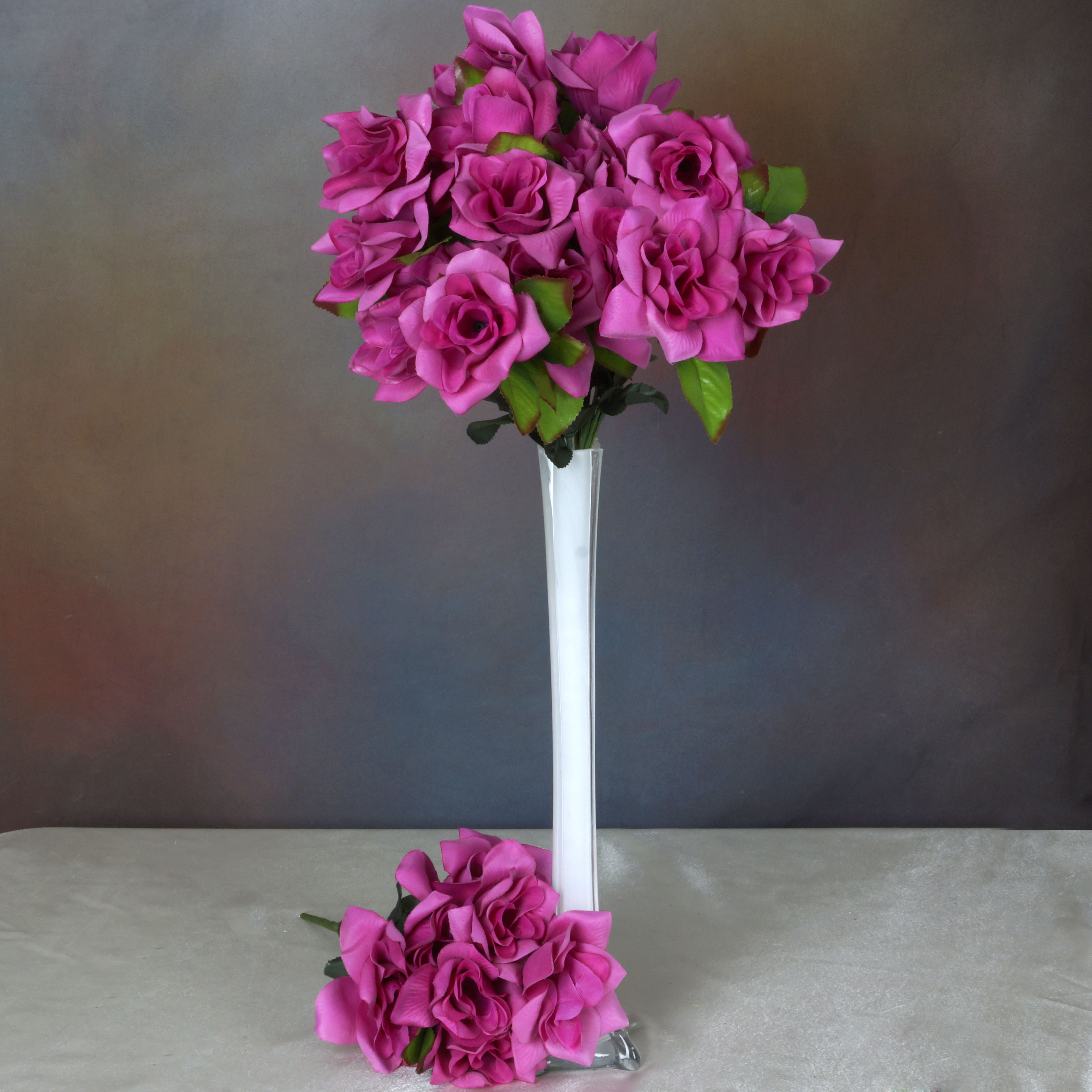 BalsaCircle 168 Open Velvet Roses Flowers - DIY Home Wedding Party Artificial Bouquets Arrangements Centerpieces Bouquets