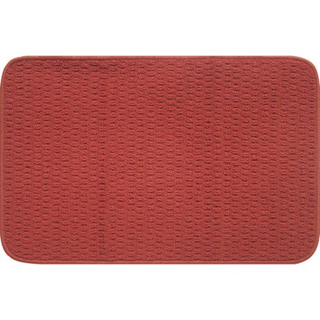 Mainstays Solid Border Rug Red Walmart Com