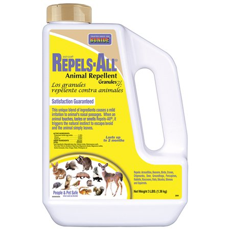 Bonide 3 lb. Repels-All Animal Repellent Granules, Repels by Taste, Smell, and Touch