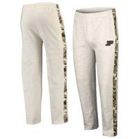 Purdue Boilermakers Colosseum OHT Military Appreciation Desert Camo Fleece Pants - Heathered Oatmeal