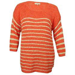 Jones New York Women's Crochet Crew-Neck Sweater Jones New York Elastic