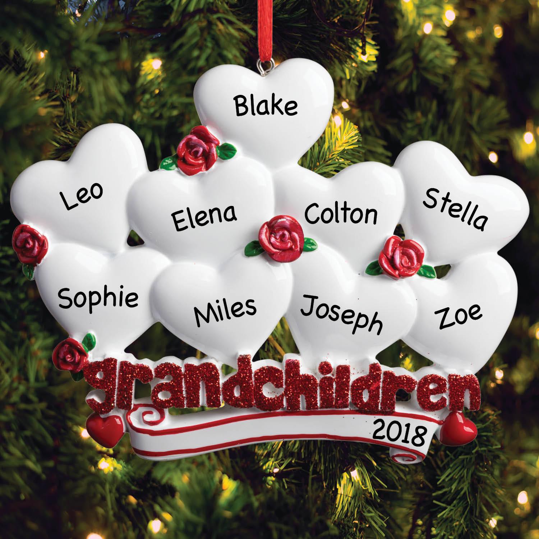 Nine Grandchildren Personalized Ornament