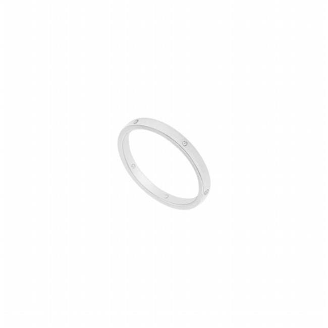 Fine Jewelry Vault UBVCF200W14D-120RS12.5 2 mm Comfort Fit Flat Wedding Band with Diamond 14K White Gold, 0.05 CT - Size 12.5