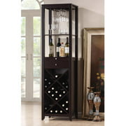 Wholesale Interiors Baxton Studio Austin Wood Modern Wine Tower, Dark Brown