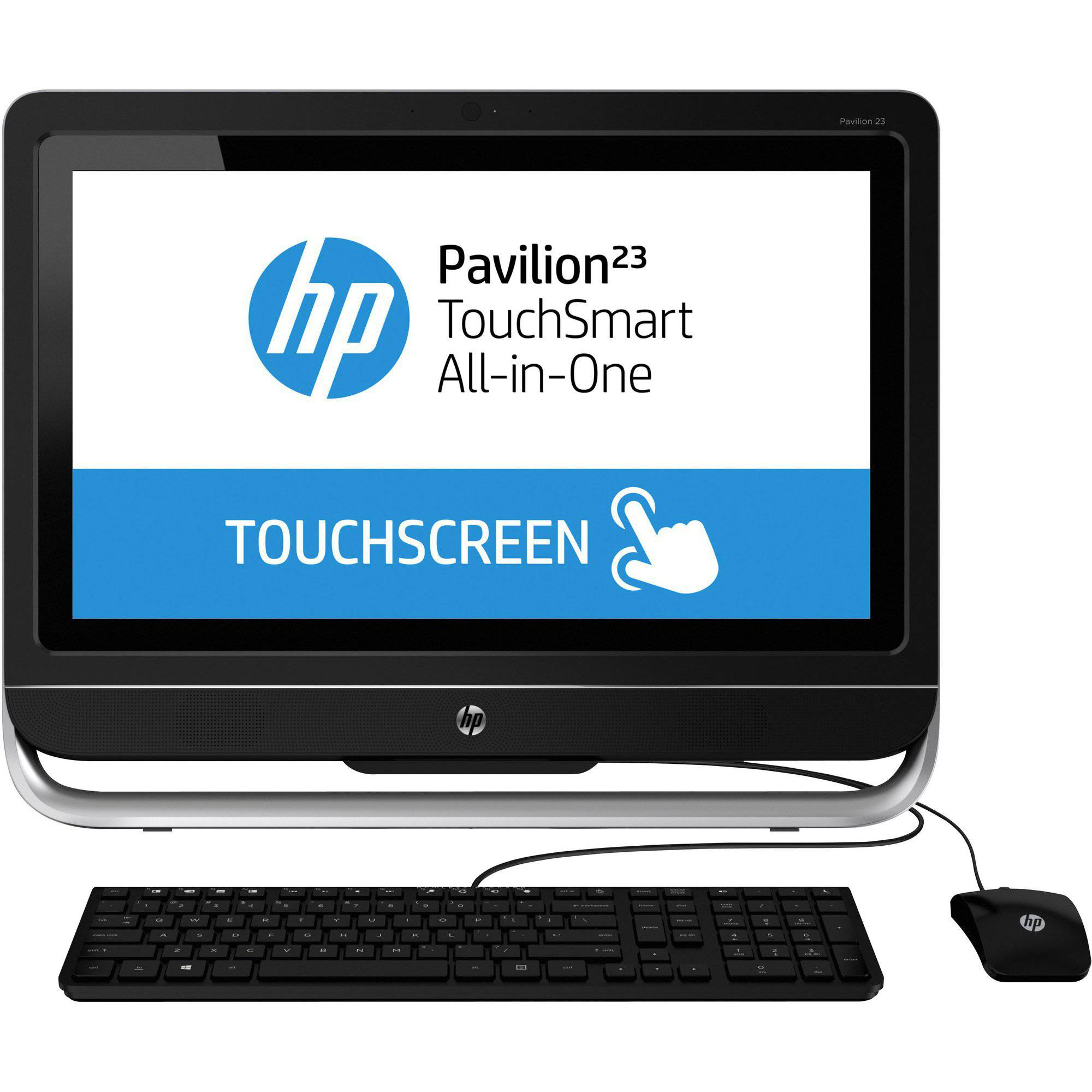 "Refurbished HP Black TouchSmart Pavilion 2ff3-h027c All-in-One Desktop PC with Intel Core i3-4130T Processor, 8GB Memory, 23"" touch screen, 1TB Hard Drive and Windows 8.1"