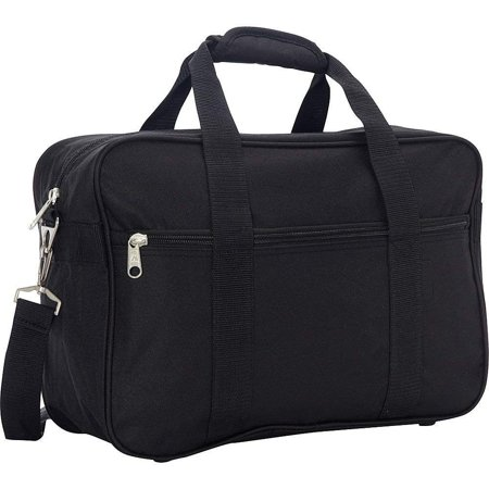 Black Carry-on Briefcase with Soft Shoulder Strap Overnight Bag Duffel Bag Travel Bag Polyester Material
