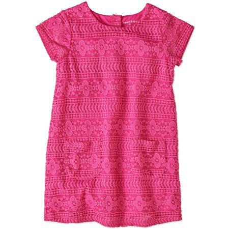 Healthtex Toddler Girl Short Sleeve Lace Dress With Pockets