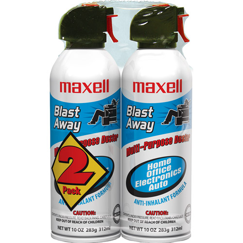 Maxell Blast Away Canned Air, 2 Pk.