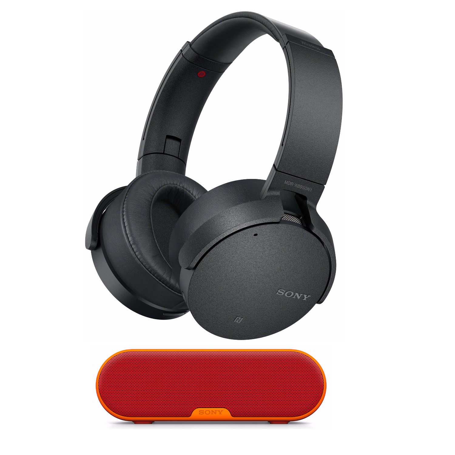 Sony XB950N1 Extra Bass Wireless Noise Canceling Headphones (Black) with Speaker