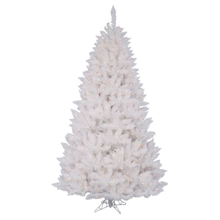 Sparkle White Pre Lit Christmas Tree With Metal Stand
