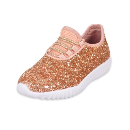 Link Girls' Glitter on Glitter Sneakers (Sizes 9 - 4) (Martial Arts Shoes Women)