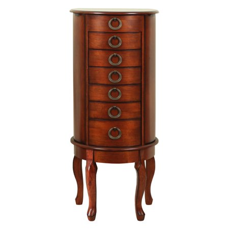 Powell Jewelry Armoire, Woodland Cherry (Cherry Finish Jewelry Armoire)