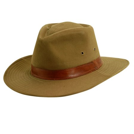 Dorfman Pacific Twill Leather Band Shapeable Outback Hat - Walmart.com 6e14fb193bb