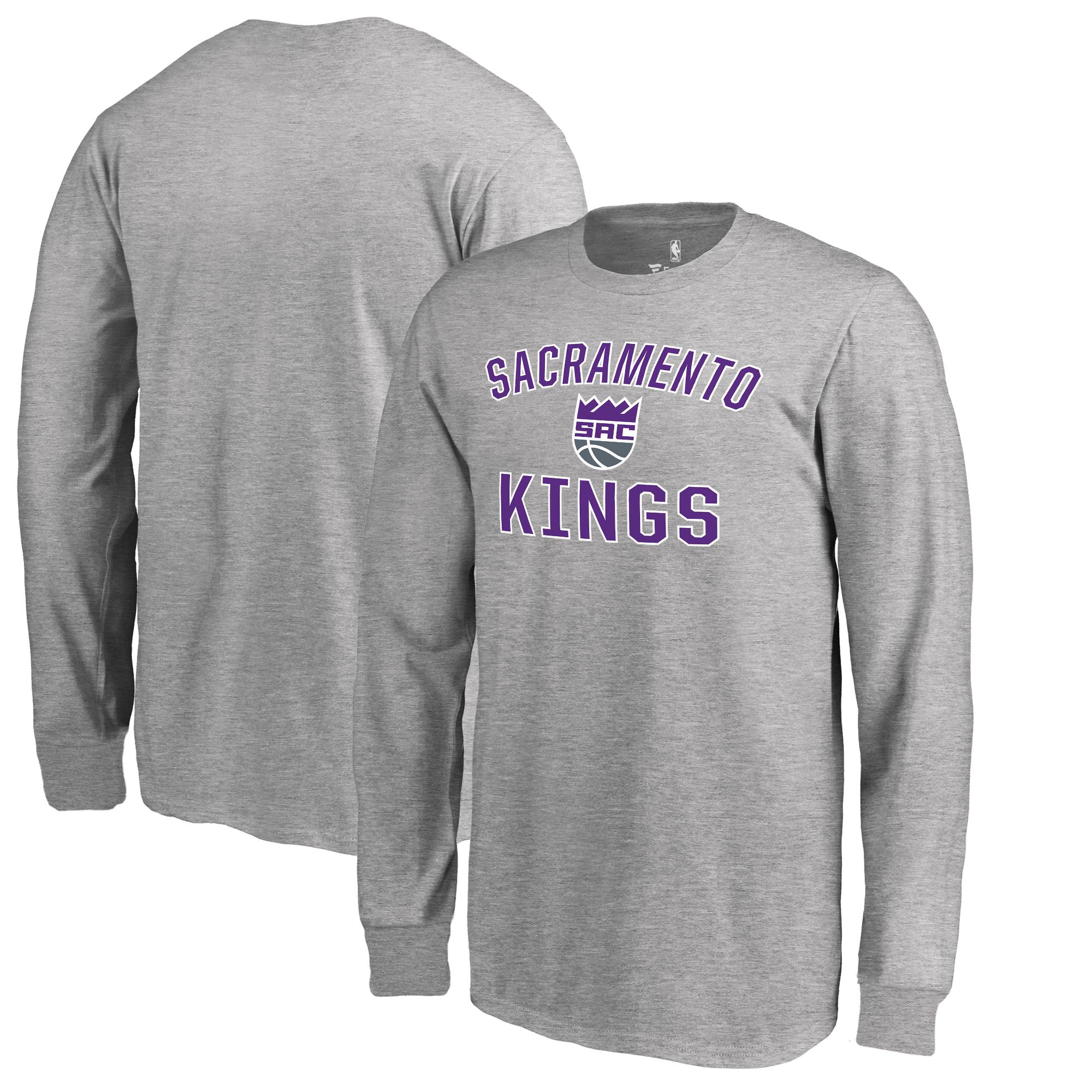 Sacramento Kings Fanatics Branded Youth Victory Arch Long Sleeve T-Shirt - Heathered Gray