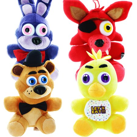Five Nights At Freddys 6 5   Plush Set Of 4