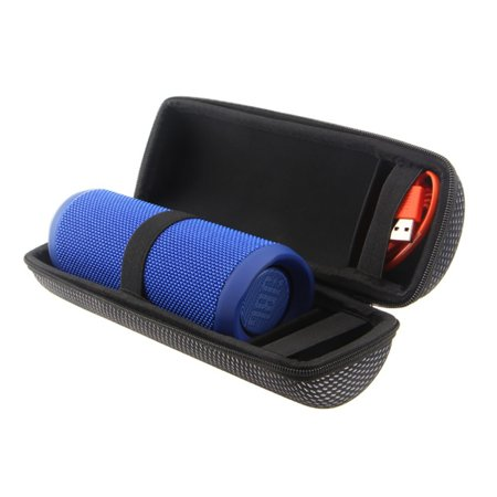 Portable Carry Belt Zipper Sleeve Portable Protective JBL Flip 1/2/3/4 Cover Bluetooth Audio New Grid Storage (Best Carrying Sleeves)