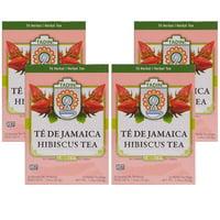 (4 Boxes) Tadin Herb & Tea Co. Hibiscus Herbal Tea, Caffeine Free, 24 Tea Bags
