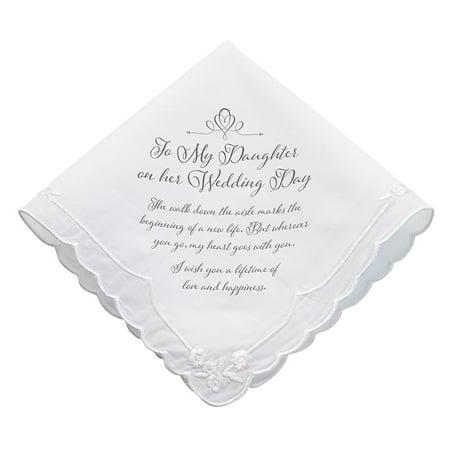 Daughter Verse Wedding Gift Keepsake Hankie, None By Lillian