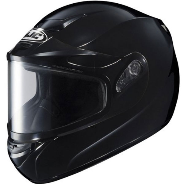 HJC CS-R2 Solid Snow Helmet w/Dual Lens Shield Gloss Black