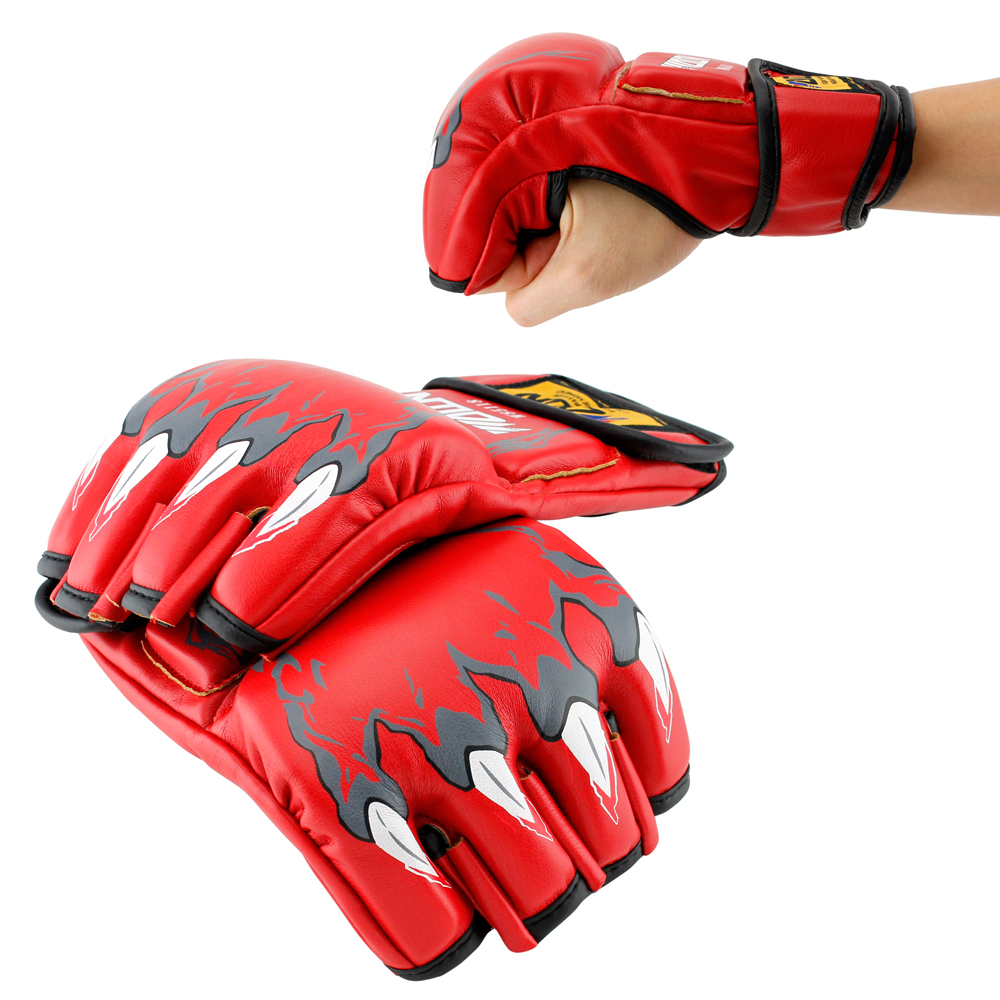 New MMA Grappling Boxing Fight Punch Ultimate Mitts PU Leather Gloves