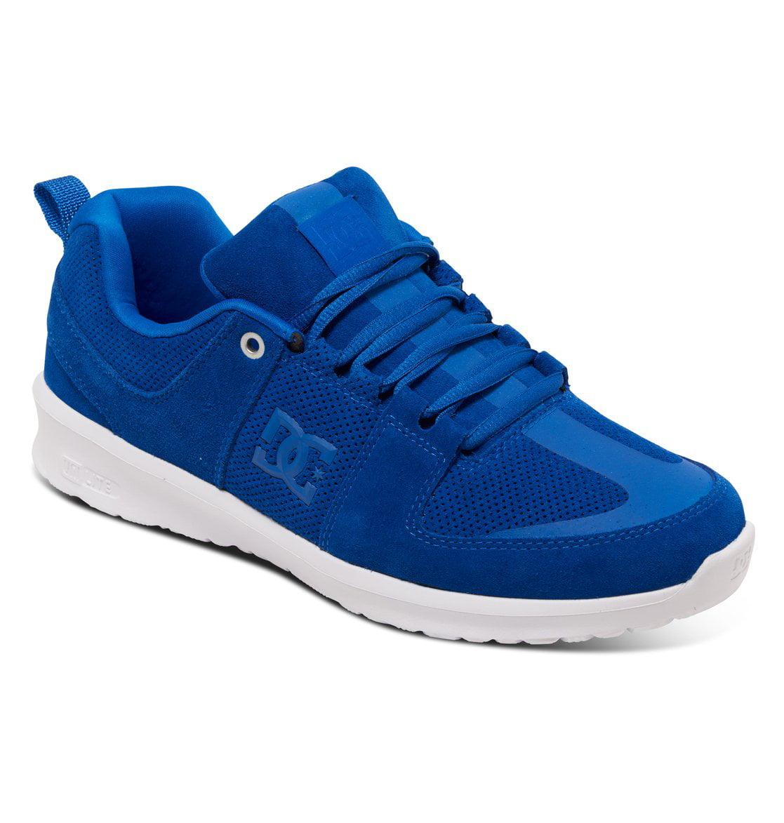 DC Men's Lynx Lite Skate Shoes Blue Leather 4 D