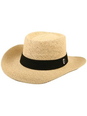 various colors 5b4e8 e9647 Product Image Golf Straw Hat with Black Band, Large XL