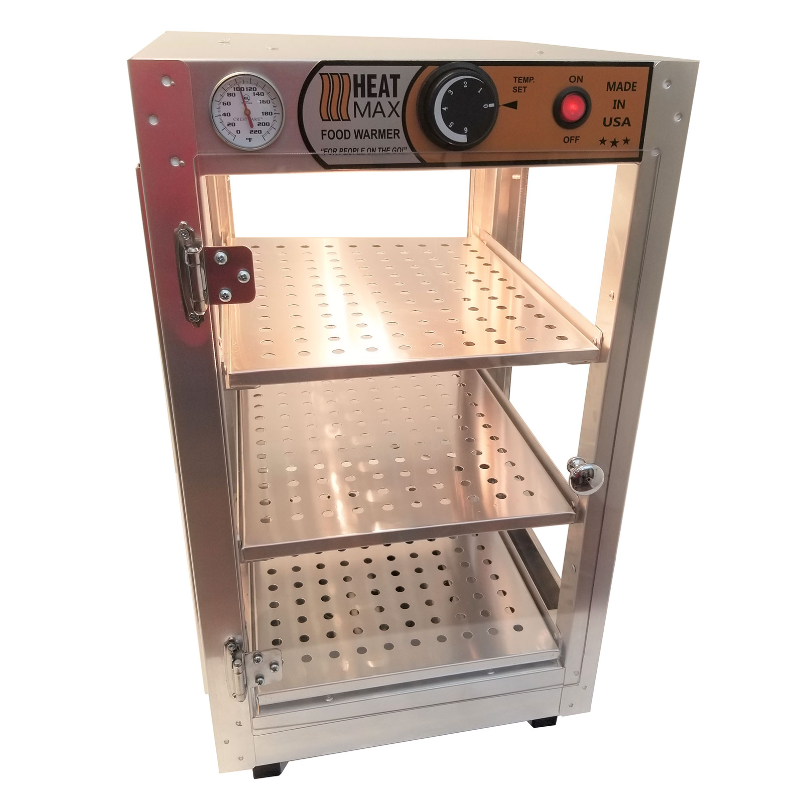 Commercial 14 x 14 x 24 Countertop Food Pizza Pastry Warmer Display Case HeatMax