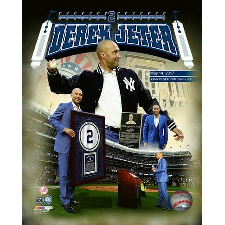 - Derek Jeter Jersey Retirement Composite Photo Print