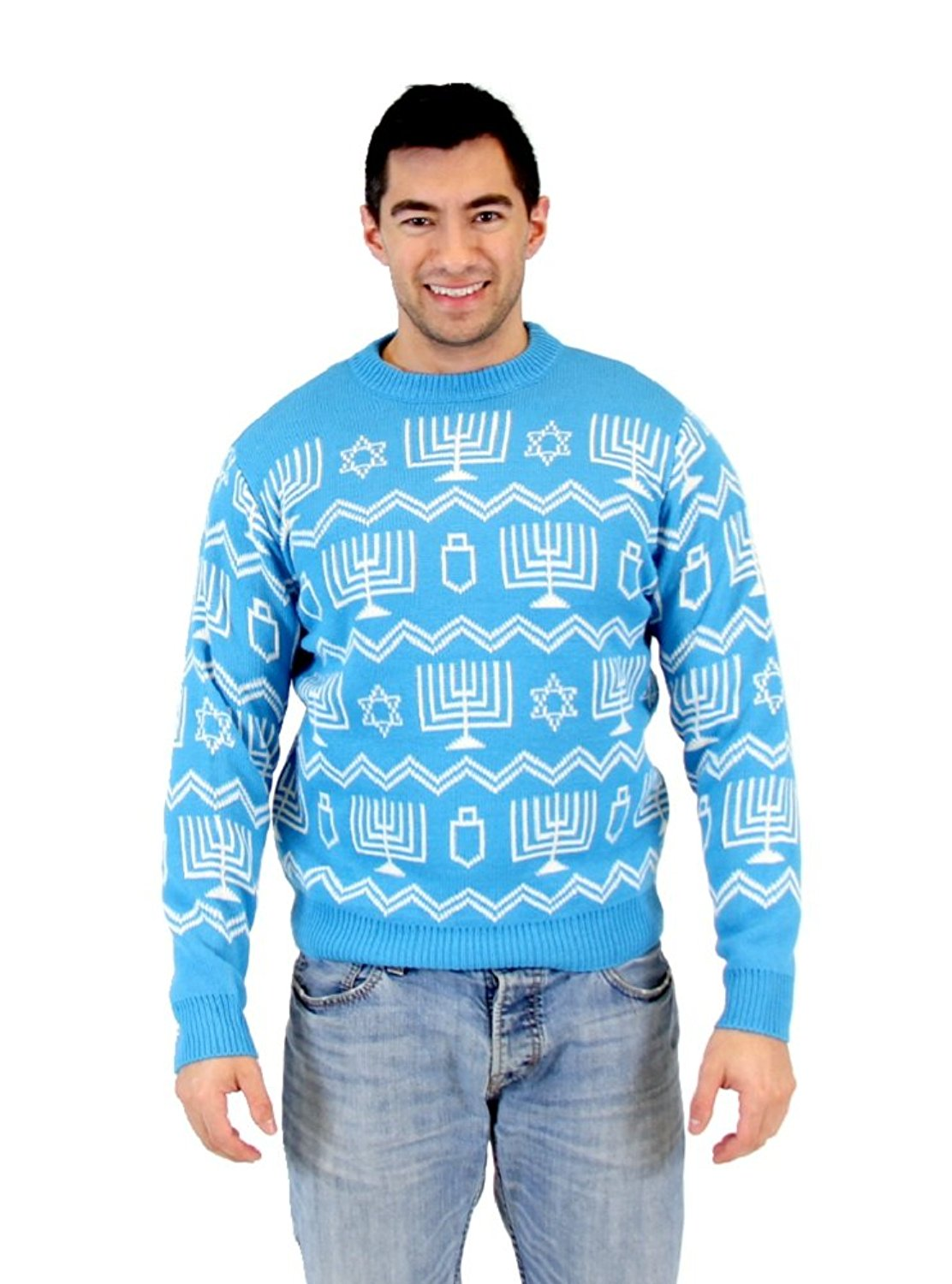 Hanukkah Symbols Pattern Ugly Sweater by Costume Agent
