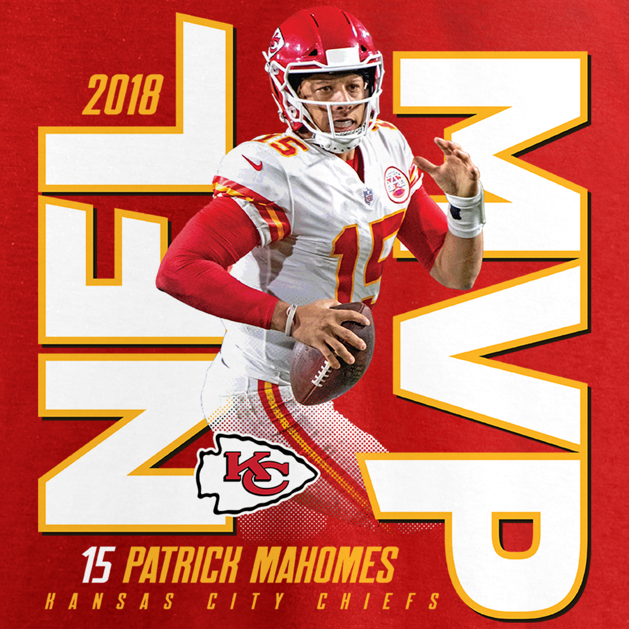 b53b77a2f Patrick Mahomes Kansas City Chiefs NFL Pro Line by Fanatics Branded 2018 NFL  MVP T-Shirt - Red - Walmart.com