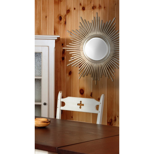 Kenroy Home Reyes Wall Mirror, Antique Silver with Warm Highlights