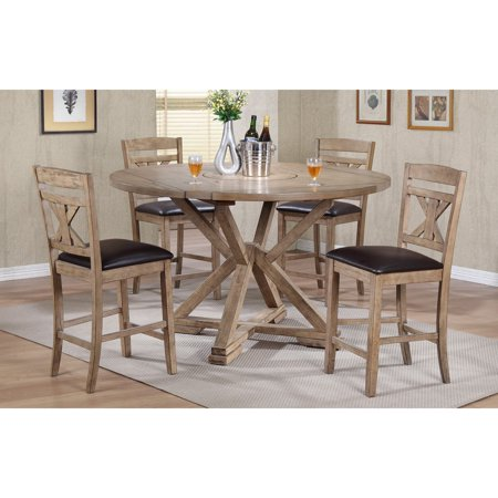 Winners Only Round Counter Height Dining Table With Lazy Susan