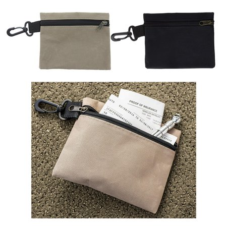 Multi Purpose Pocket - 2 pcs Storage Pouch Multi Purpose Zip Bag Clip Cosmetic Organize Pocket 6