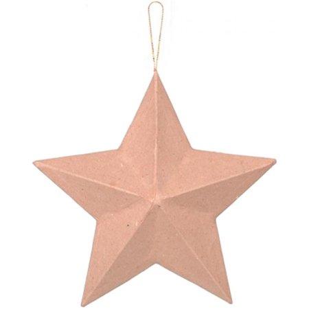 Darice Paper Mache Star Ornament 8 Inches