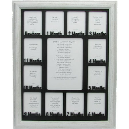 Northland Frames And Gifts Baby First Year Picture Frame Walmartcom
