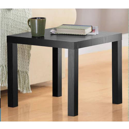 mainstays black parsons end table. Black Bedroom Furniture Sets. Home Design Ideas
