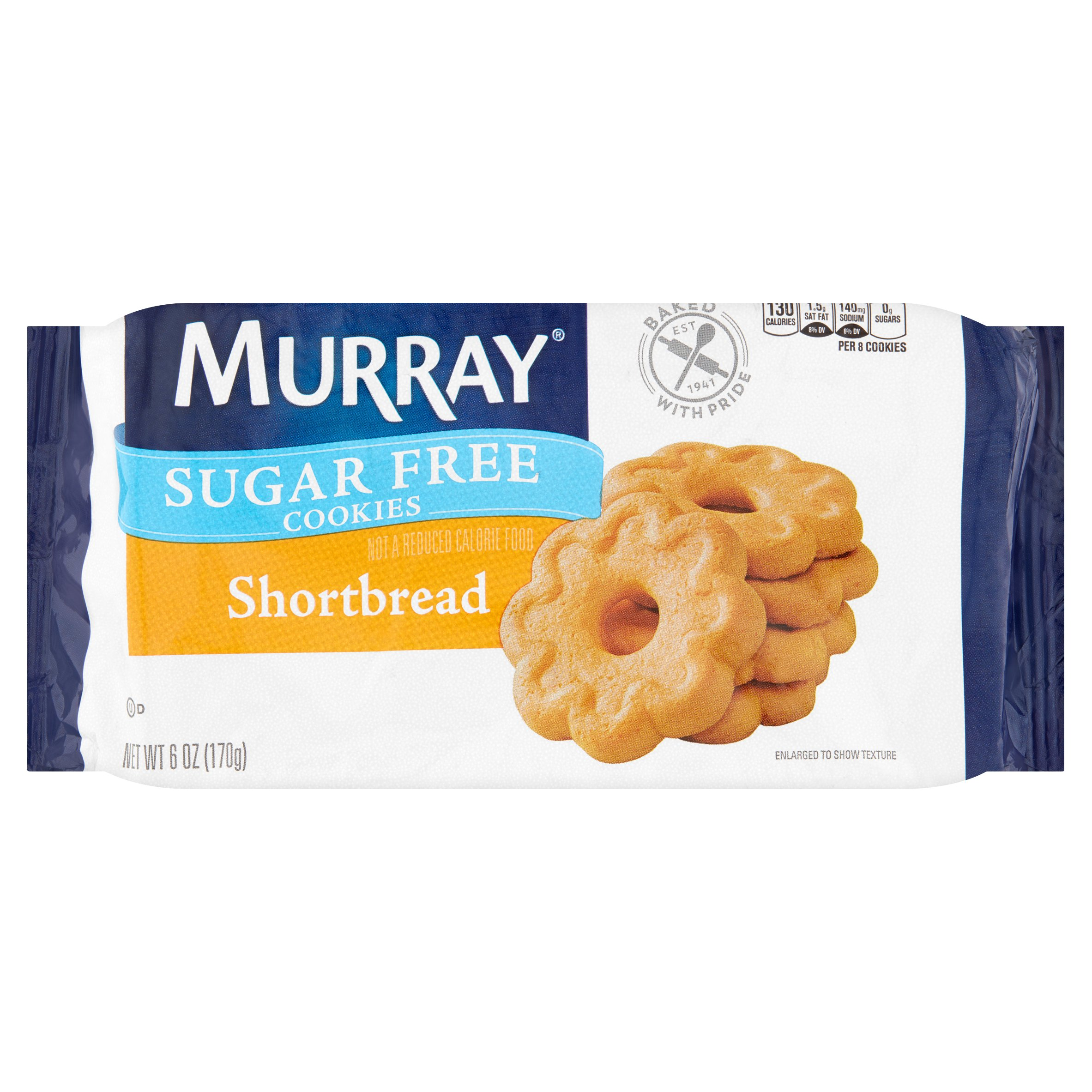 Murray Sugar Free Shortbread Snack Cookies, 6 oz