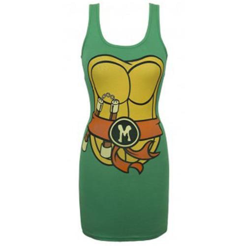 Teenage Mutant Ninja Turtles Michelangelo Costume Tank Dress Adult