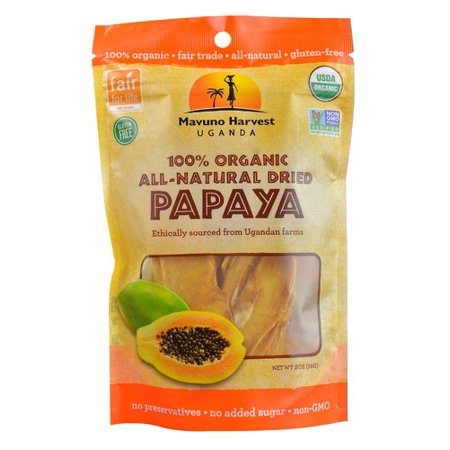 Mavuno Harvest Organic All Natural Dried Papaya 2 Oz