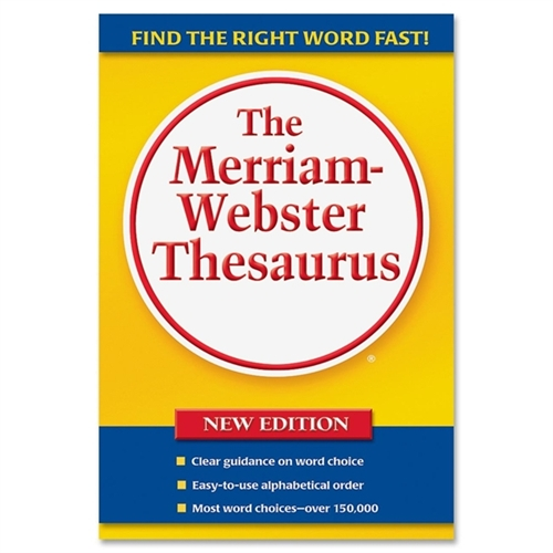 Merriam-Webster Hardback Thesaurus, Paperback, 688 Pages