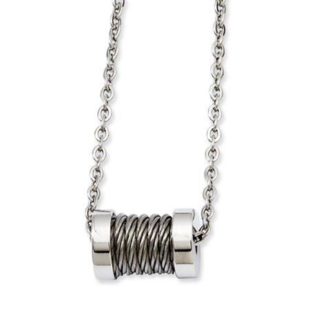 Stainless Steel Wire Barrel Necklace 24 Inch (Barrel 24 Inch)