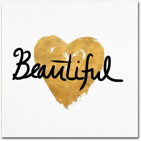"Trademark Fine Art ""Beautiful On White"" Canvas Art by Lisa Powell Braun"