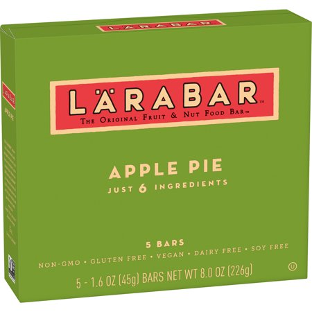 Larabar Gluten Free Bar, Apple Pie, 1.6 oz Bars (5 Count)
